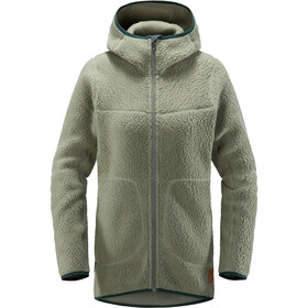 Haglöfs Pile Hooded Jacket Dame Agave Green